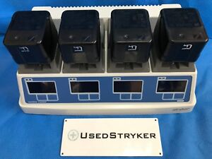 Stryker 7110 120 Universal Battery Charger With 4 7215 System 7 Batteries