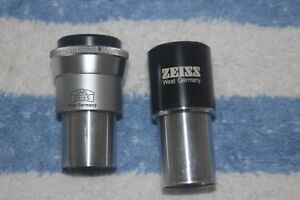 Zeiss Microscope Kpl w 10x 20 Eyepiece One w Diopter Ring For 23mm Tube