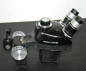 Bausch And Lomb B l Stereozoom 4 Microscope Head And Rack 10 48x