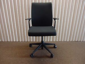 Think Office Chair In Black Fabric By Steelcase Adjustable Ergonomic Chair