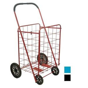Large Folding Grocery Laundry Shopping Cart Reusable Bags Storage With Wheel New