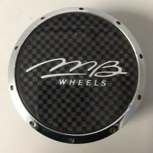 Mb Wheels Custom Center Hub Cap Chrome Black C51 58 Mb C425 V Mb6018a C555101c