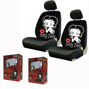 New Classic Betty Boop Blow Kiss Front Pair Low Back Car Seat Covers