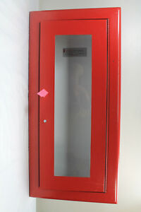 Larsen s Semi recessed Fire Extinguisher Cabinet W Rolled Edges 2409r3