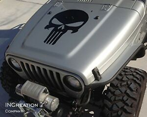 Distressed Jeep Wrangler 4x4 Punisher Vinyl Decal Sticker Auto Graphics Rubicon
