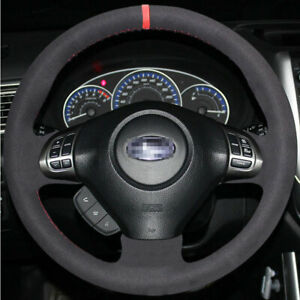 Diy Sew Suede Steering Wheel Cover For Subaru Impreza Legacy Forester 2009 2013