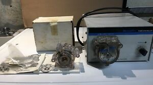 Cole Parmer Masterflex Peristaltic Pump 7553 50 With 7021 22 7015 21 Heads