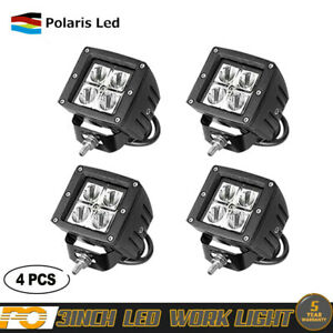 4x 18w 12v 24v Led Work Light Flood Lamp Fit Tractor Truck Suv Atv Offroad