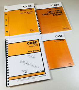 Case 470 570 Tractor Service Engine Parts Operators Manual 188d 188g 148g 159g