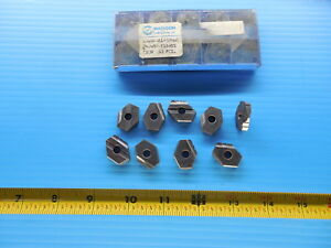 9 Pcs New Madison Cutting Tools T15 Hss 24 6mm Carbide Inserts Ticn Milling