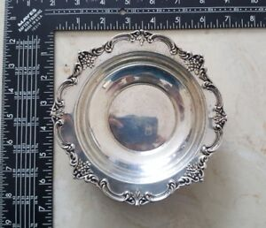 English Rose Pattern 2412 By Fisher Sterling Silver Candy Dish Nut Dish Freeship