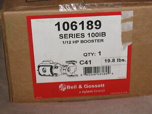 Nib Bell Gossett Series 100ib 1 12 Hp Booster Pump Model 106189 Msrp 399
