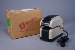 Simplex Ha2gj Time Time Card Puncher Stamp Recorder W Key Look