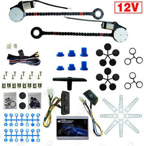 Universal 2 Door Car Truck Electric Power Window Conversion Roll Up Switch Kit