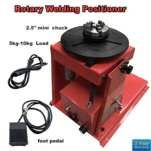 110v Jaw Rotary Welding Positioner Turntable Tathe Lathe Chuck Mini 2 5 3 Us