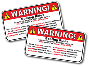 Warning Jeep Rules Instructions Safety Funny Adhesive Sticker Decal 2 Pack