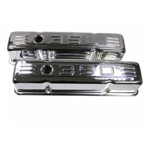 For 58 86 Sbc Small Block Chevy 283 327 400 Chrome 350 Logo Tall Valve Covers