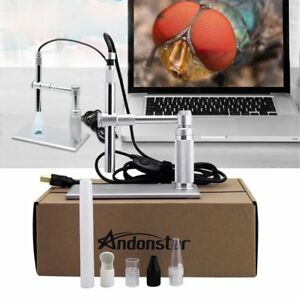 2mp 8led Usb Digital Camera Microscope Magnifier Lift Stand 500x For Win mac Rj