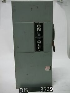 Ge 240 Volt 100 Amp Fused Disconnect Safety Switch dis3509