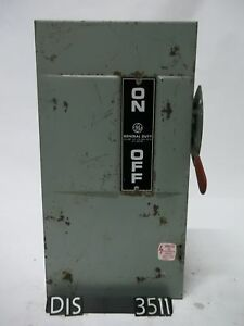 Ge 240 Volt 100 Amp Fused Disconnect Safety Switch dis3511