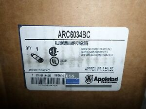 new Appleton Arc6034bc 60 amp Pin sleeve Connector 60a 600v Acp6034bc 3w4p