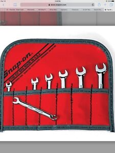Snap On 7 Pc 6 Point Midget Metric Combo Wrench Set Oxim707sbk New Ships Free