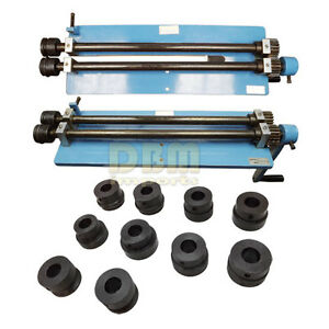 Bead Roller Rotary Machine Clamp Bench Vise Steel Sheet Metal Rolling 6 Dies Set