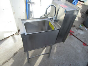 A1commercial Restaurant Sink 1 Bay Smtghall Stainless Steel With Faucet Perlick