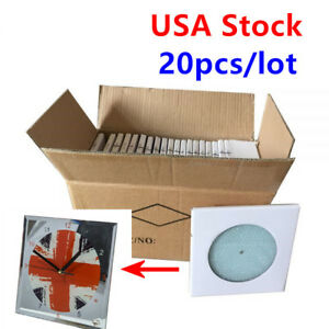 Us Stock 20pcs 7 8 X 7 8 Sublimation Blank Glass Photo Frame With Clock