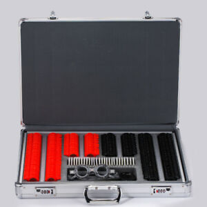 266 Pcs Optical Trial Lens Set Plastic Rim Optometry Kit Case Trial Frame Ups