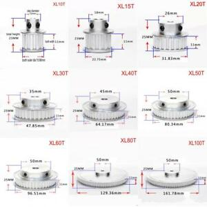 Xl 10t 100t Timing Belt Pulley Synchronous Wheel Select Bore For 10mm Width Belt