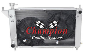 1994 1996 Ford Mustang 3 Row Jamn Champion Radiator W 2 12 Fans