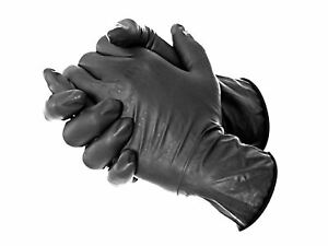 Dynarex Black Tattoo Gloves Professional Disposable Latex Or Nitrile Powde