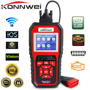 Konnwei Kw850 Obd2 Obdii Dtc Scanner Car Code Reader Tester Diagnostic