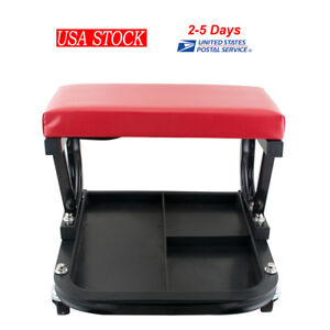 Garage Creeper Seat Work Shop Garage Repair Rolling Chair Stool With Parts Tray
