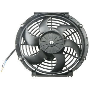 1 Pcs Electric Radiator Cooling Fan 10 Inch Universal Slim Pull Push Racing 12v