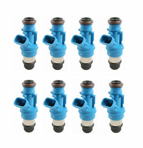 8 Pcs 42lb 440cc Fuel Injectors For 01 07 Gmc Cadillac Chevrolet 4 8l 5 3l 6 0l