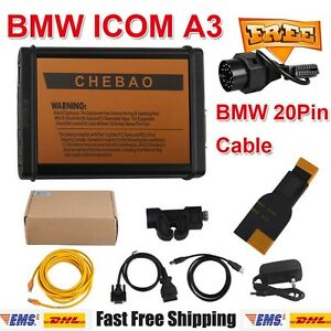 Bmw Icom A3 V1 38 Diagnostic And Programming bmw Obd2 20pin Cable For Vehicles