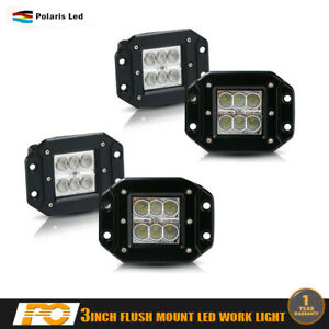 4x 4inch 18w Cube Spot Led Pods Work Light Truck Jeep 4wd Driving Lamp Off Road