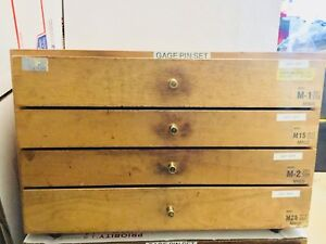 Meyer Library Cabinet Pin Gages Model M 1 M 2 M15 And M25 Combination Of 4 Set