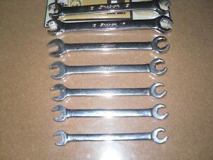 Snap On 7 Pc Metric 6 Point Flare Nut Line Wrench Set 10mm To 18mm Usa