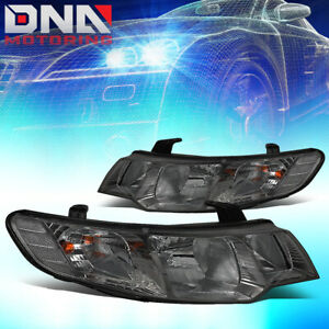 For 2010 2013 Kia Forte Smoked Lens Clear Corner Headlight lamps Replacement