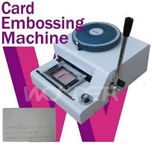 Highly Sophisticated Pvc Id Credit Card Embossing Machine Stamper Embosser Us