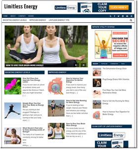 Limitless Energy Turnkey Website Business Earn From Affiliate Adsense