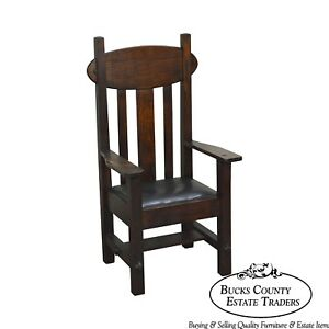 Arts Crafts Mission Style Antique Arm Chair