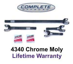 W24138 4340 Chrome moly Replacement Axle Kit For Dana 44 80 92 Wagoneer