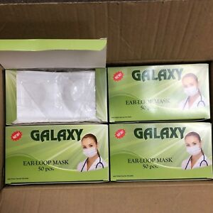 1000 Galaxy White Ear Loop Procedure Dental Medical Surgical Face Mask