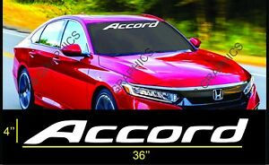 Honda Accord Windshield Banner Vinyl Long Lasting Premium Decal Sticker