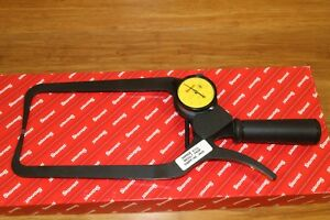 New Starrett Outside Dial Caliper Thickness Gage 0 50mm 0 02mm 200mm Throat