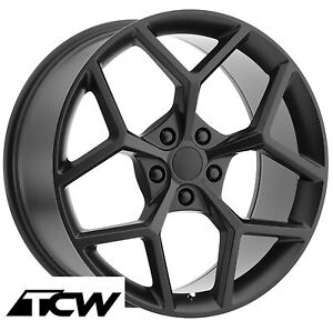 20 Inch 20x9 20x10 Chevy Camaro Z28 Oe Factory Replica Matte Black Wheels Rims